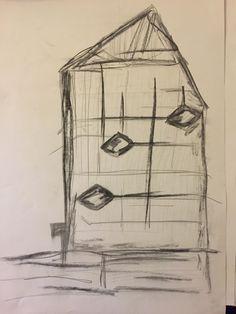 A sketch for the building of Prada Aoyama