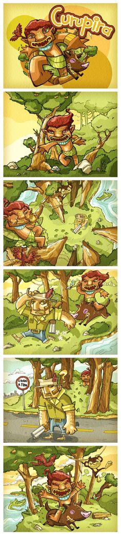 Lendas do Folclore Brasileiro by Richard Koubik, via Behance