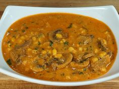 Corn and mushroom in tomato and spicy cashew gravy makes a delicious main dish. Cashews add a creamy and rich texture to the dish. This is a quick and easy recipe. This goes well with any Indian flat bread or plain rice.