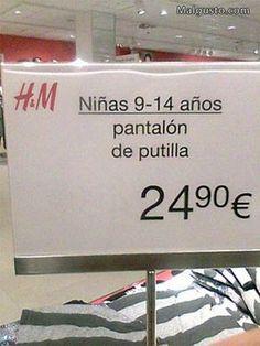 Equivocación ortográfica en un cartel de H & M