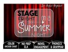 This packet is PRINT and GO ready! No time spent laminating, cutting, or setting up. Print and your kids are ready to use engaging ELA activities that follow K-2 ELA standards with the Magic Tree House series: Stage Fright on a Summer Night! This set is perfect for