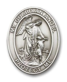 Made in America! Antique Silver Guardian Angel Visor Clip for Automobiles, Suv, Truck  Cars - http://www.carhits.com/made-in-america-antique-silver-guardian-angel-visor-clip-for-automobiles-suv-truck-cars/