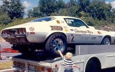 photos of grumpy jenkins drag cars Toy Hauler Trailers, Nhra Drag Racing, Chevy Muscle Cars, Old Race Cars, Race Engines, Vintage Race Car, Drag Cars, Car Humor, Chevrolet Camaro