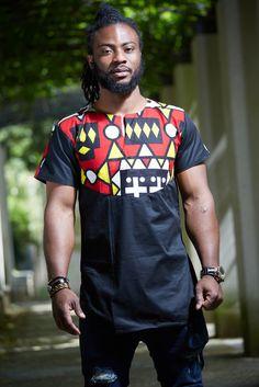 Men's tunic samakaka by printofafrika - Men's tunics - Afrikrea African Tops, African Men, African Print Fashion, African Prints, Seychelles Hotels, Mens Tunic, Moda Afro, Men Shirt, Afrikaans