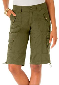 Women's Plus Size Bermuda Shorts -- You can get more details by clicking on the image.