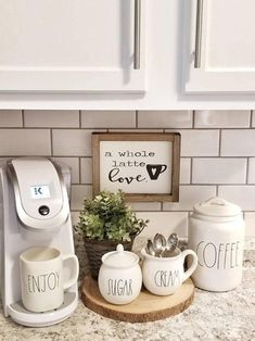 A whole latte loveCoffee Sign Coffee Bar sign Kitchen decor Rustic sign Rustic framed sign Coffee station Valentines day decor Home Coffee Area, Coffee Bar Home, Coffee Bar Signs, Coffee Bar Ideas, Coffee Shop, Coffe Bar, Coffee Lovers, Coffee Coffee, Coffee Counter
