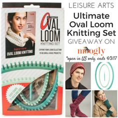 Leisure Arts Ultimate Oval Loom Knitting Set: Review & Giveaway! Open to US addresses, ends 4/3/17 at 12:15am Central US time.