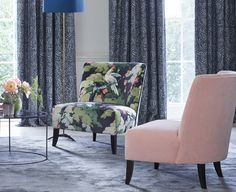 Developing the ever popular tropical theme, botanical and floral designs co-ordinate with bold geometric patterns in a rich and vibrant colour palette.