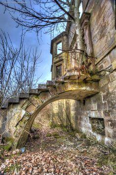 """Gordon Heaney's """"Auchengray House 10"""" The staircase to Auchengray House, Scotland"""