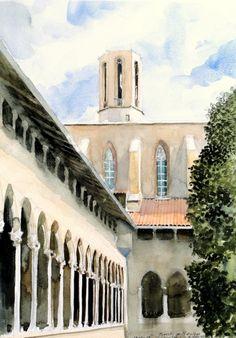 Claustre del monestir de Pedralbes, Barcelona.