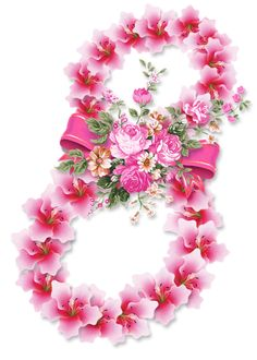 Women's Day 8 March, 8th Of March, Happy Woman Day, Happy Women, 8 Martie, Ladies Day, Flower Arrangements, Floral Wreath, Valentines