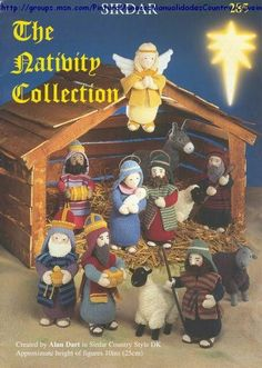 The Nativity collection/Christmas/Crochet amigurumi/Knitting ebook/Crochet accessories Crochet Christmas Ornaments, Holiday Crochet, Christmas Nativity, Sirdar Knitting Patterns, Christmas Knitting Patterns, Free Knitting, Crochet Amigurumi, Crochet Dolls, Crochet Angels