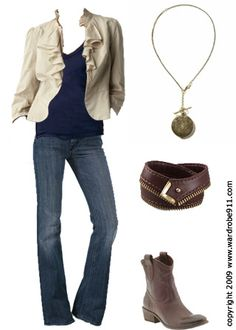 #I need this...all of it :)  jean trouser #2dayslook #jean #new #fashion #nice  www.2dayslook.com