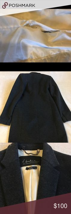 Aritzia Babaton Wool Cashmere Coat Menswear inspired tailored coat, wool and cashmere blend, slight rip at the seam on lining (see photos), size S Aritzia Jackets & Coats