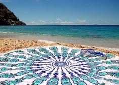 Kaleidoscope Oversized Round Beach Towel