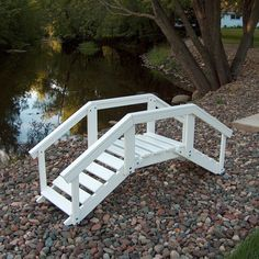 Decorative Garden Bridge with Posts and Rails