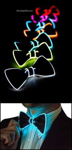Add a touch of Tron to your formalwear with these Light Up Bow Ties. (Tech Style Men)