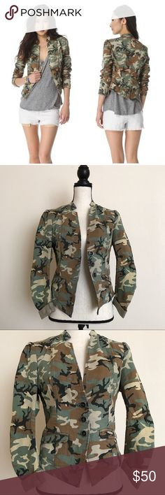 Free People Camo Blazer Jacket Excellent Pre-Owned Condition. Free People Jackets & Coats