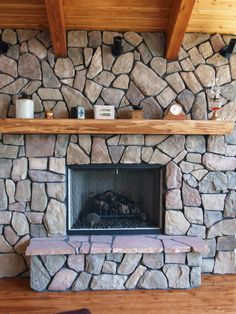 What a beautiful custom fireplace designed by North Twin Builders!