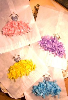 tutu made of confetti, if I ever do a girl's dance birthday party I have got to have this as a craft!
