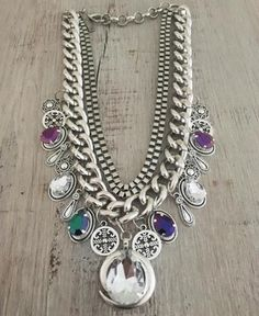 Collar Queen Ethnic Jewelry, Bohemian Jewelry, Beaded Jewelry, Handmade Necklaces, Handmade Jewelry, Diy Necklace, Pendant Necklace, Maxi Collar, Kawaii Jewelry