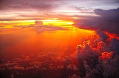 Sunsets from 14,500 ft are truly amazing.