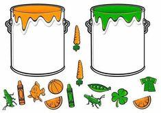 * Doe alles in de juiste verfpot! Preschool Color Activities, English Activities, Montessori Activities, Learning Activities, Kids Learning, File Folder Activities, File Folder Games, Teaching Colors, Teaching English