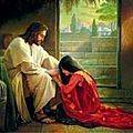 Jesus Acrylic Print featuring the painting Forgiven by Greg Olsen Images Du Christ, Pictures Of Christ, Christian Paintings, Christian Art, Greg Olsen Art, Arte Lds, Image Jesus, Maria Magdalena, Bibel Journal