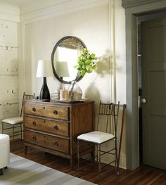 Use vintage dresser in entry way.