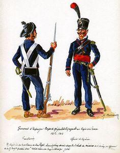 Cuerpo de Migueletes 1812 Fusilero y Oficial
