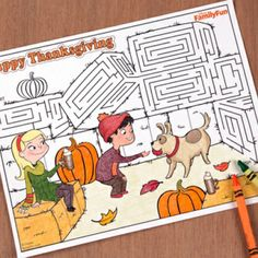 Awesome Turkey Day printables for kids