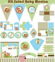 Kit Festa Digital Safari Baby Menino