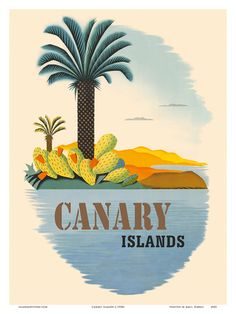 Canary islands vintage , Posters and Prints at Art.com