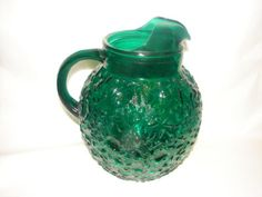 Green Depression Glass Pitcher Anchor Hocking