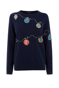 Bauble Jumper, £46, Warehouse   - Cosmopolitan.co.uk