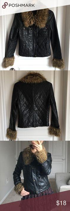 Black jacket Used, size s . But it runs small because I usually wear size xs. Members Only Jackets & Coats Pea Coats