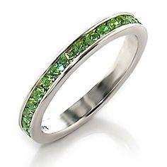 Size 6 and 8 left. Crystal Band - Peridot Swarovski Crystal Band | Hope Chest Jewelry, $9.49