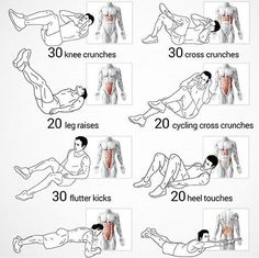 8 amazing exercises for your abs!