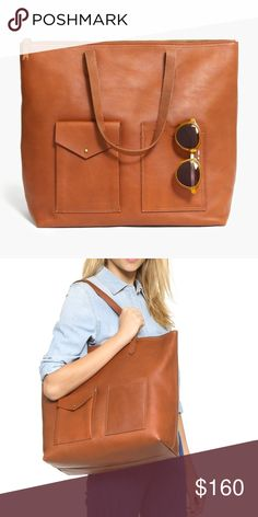 Madewell Transport Tote with Pockets Worn once, great condition. Madewell Bags Totes
