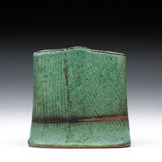 Schaller Gallery : Exhibition : Randy Johnston : Oval Vase