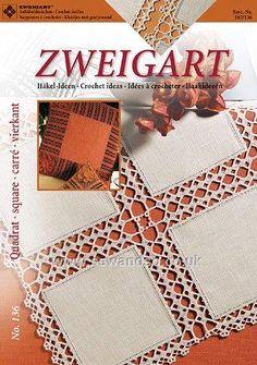 Buy Book 136 - Crochet Ideas Square Doilies Online at www.sewandso.co.uk