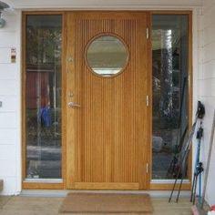 Exterior House Colors, Exterior Doors, Modern Door, Mid-century Modern, Future House, My House, Front Door Entrance, Shed Homes, Door Design