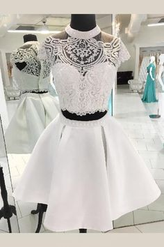Substantial Homecoming Dresses A-Line, Two Pieces Homecoming Dresses, Homecoming Dresses Lace, Homecoming Dresses Short on Storenvy Customers Need To Know : All of our prom dresses are not White Homecoming Dresses, Two Piece Homecoming Dress, Grad Dresses, Lace Dresses, Pretty Dresses, Beautiful Dresses, Dress Prom, Sexy Dresses, Summer Dresses