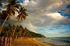 Cuyagua al amanecer con arcoriris