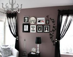 Love & Lace: A purple accent wall