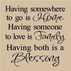 yes!!! .... and I'm so blessed!  Home, sweet home, full of love and family care.  Thanks God...
