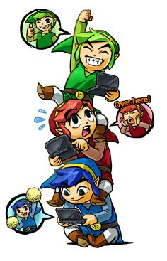 The Legend of Zelda: Tri Force Heroes release this fall on #3DS   #TriForceHeroes