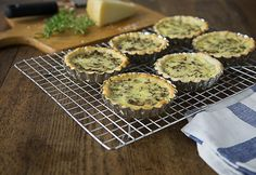 Wild mushroom quiche with gruyere and fresh thyme is a rustic and delicious dish with earthy & nutty flavors and a nice pungent cheese too! You will love this! | ethnicspoon.com