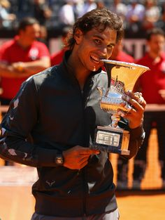 Rafael Nadal Of Spain wins Rome 2012 with a straight sets win over World Number 1, Novak Djokovic