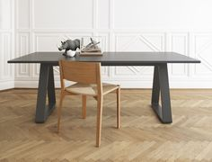 The solid structure with the well defined top and triangular shaped legs is designed with people in mind. The legs are very well coordinated and make it easy to seat many people on all four sides. The Bermuda series consists of a dining table in severa Swedish Design, Scandinavian Design, Red Dot Design, Office Workspace, Elle Decor, Design Awards, A Table, Dining Tables, Side Tables